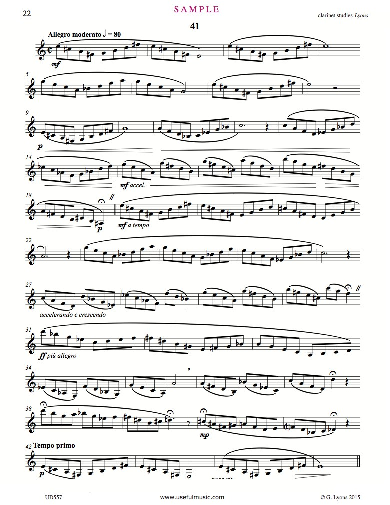 Clarinet Studies 41 to 43