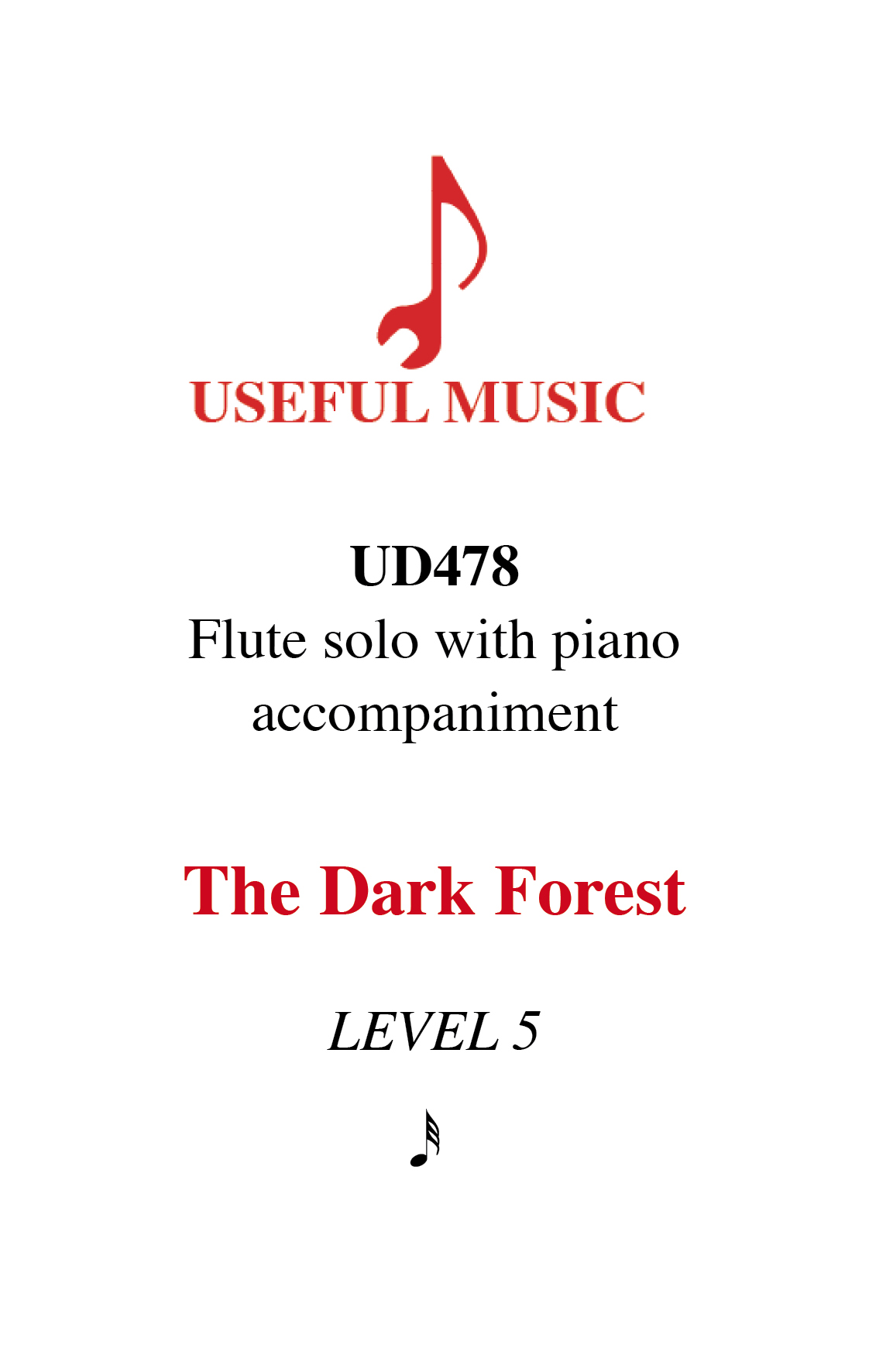 The Dark Forest - flute with piano accompaniment