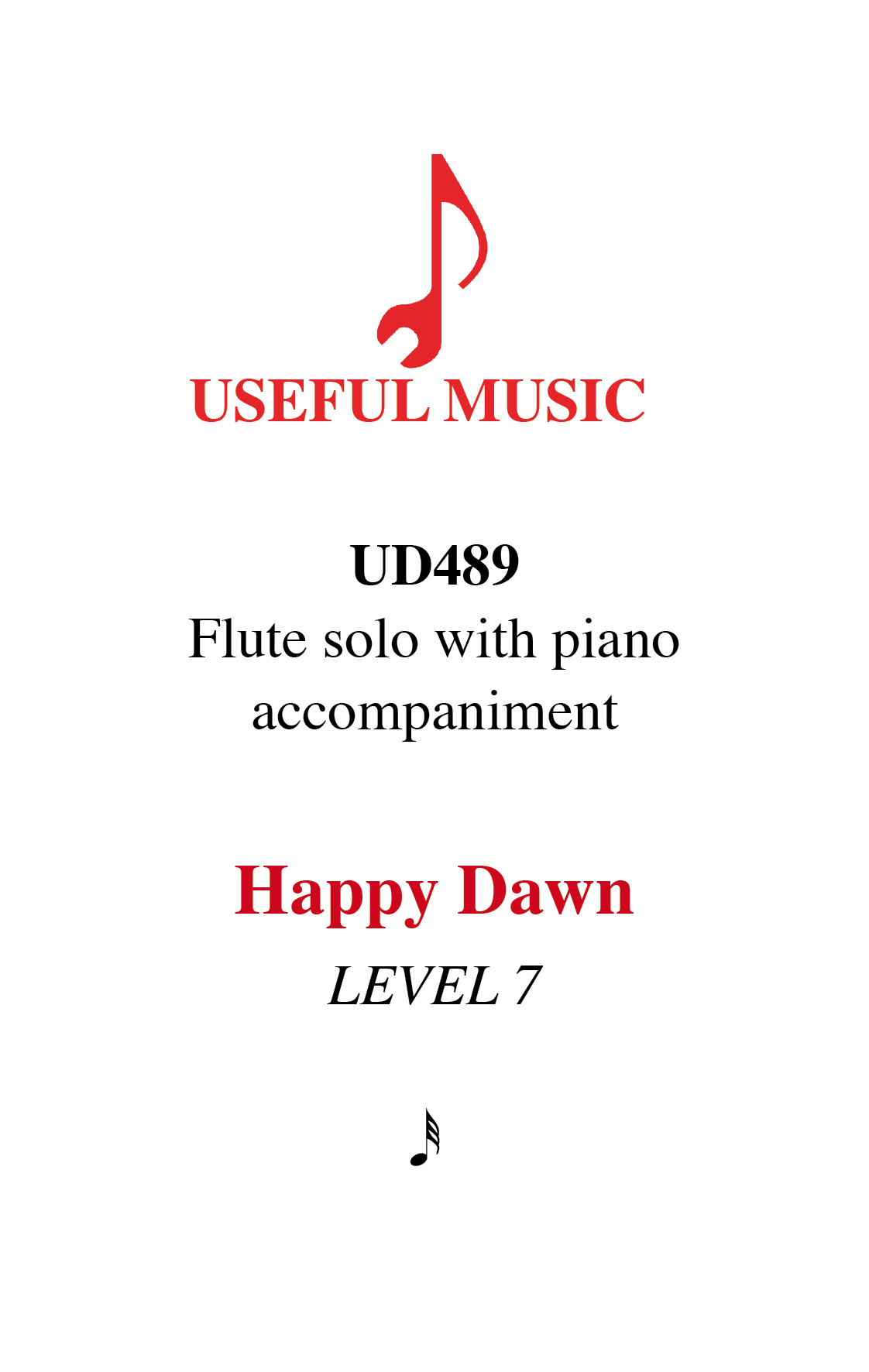 Happy Dawn - flute with piano accompaniment