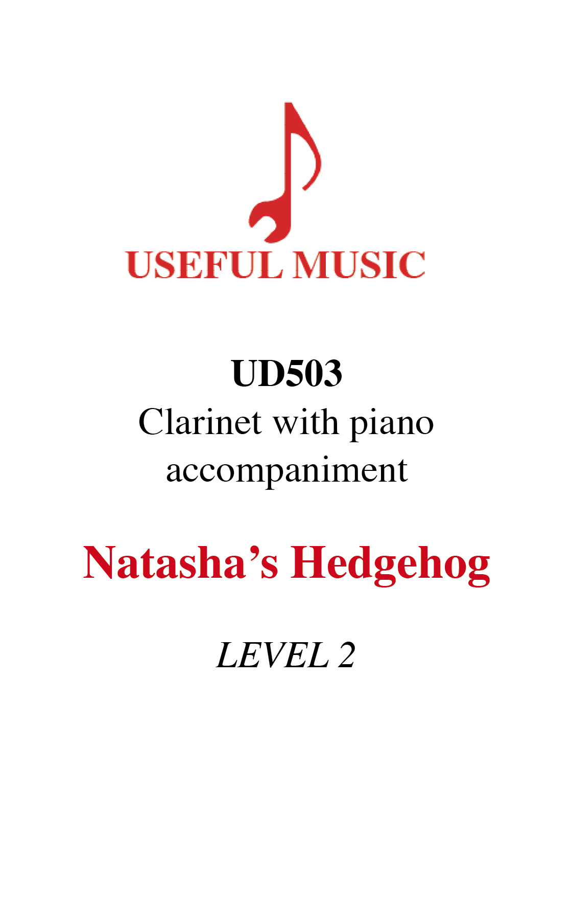 Natasha's Hedgehog - Clarinet with piano accompaniment