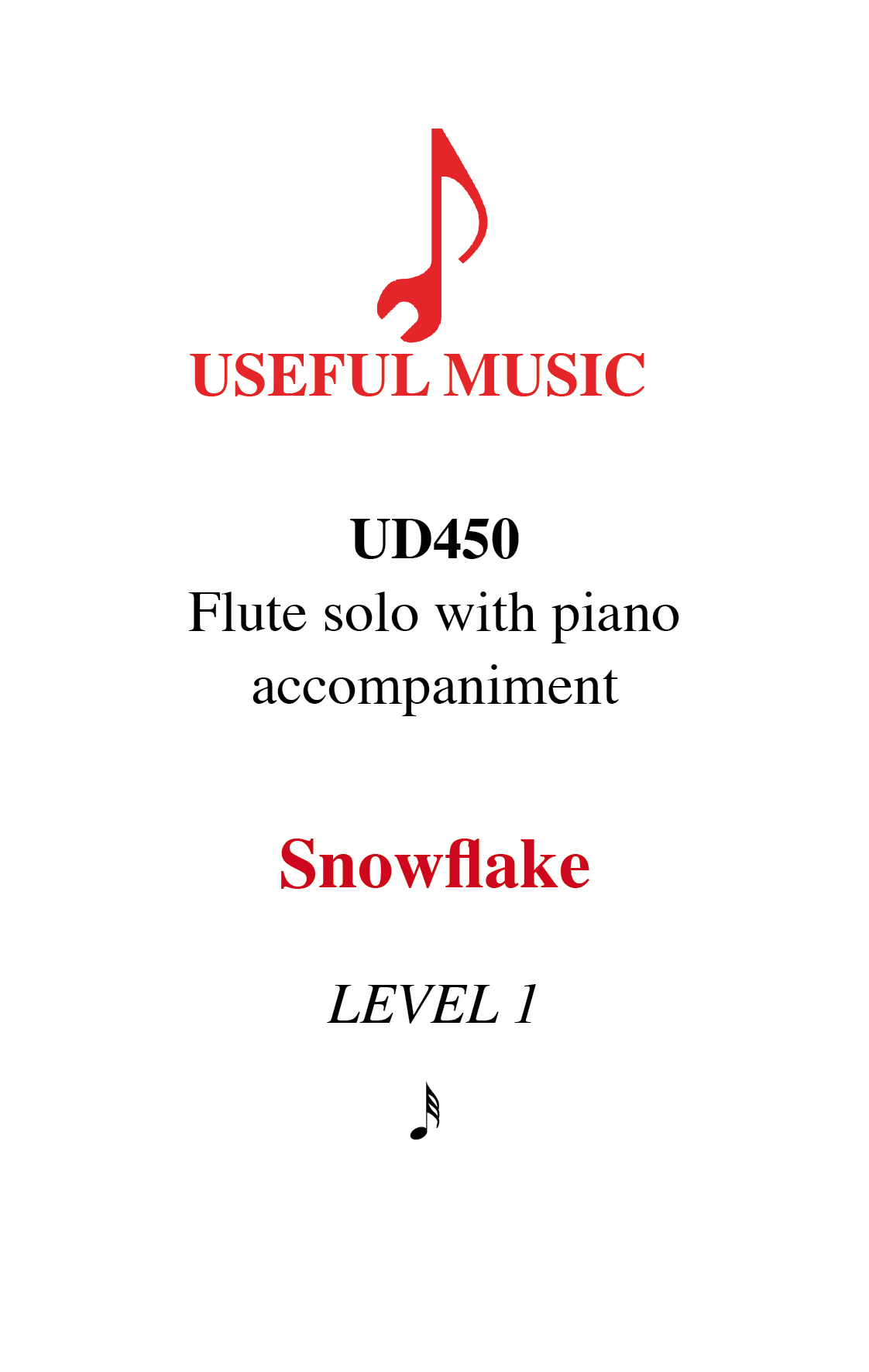 Snowflake - flute with piano accompaniment