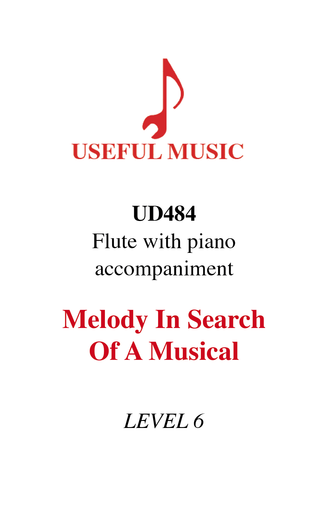 Melody in Search of a Musical - flute with piano accompaniment