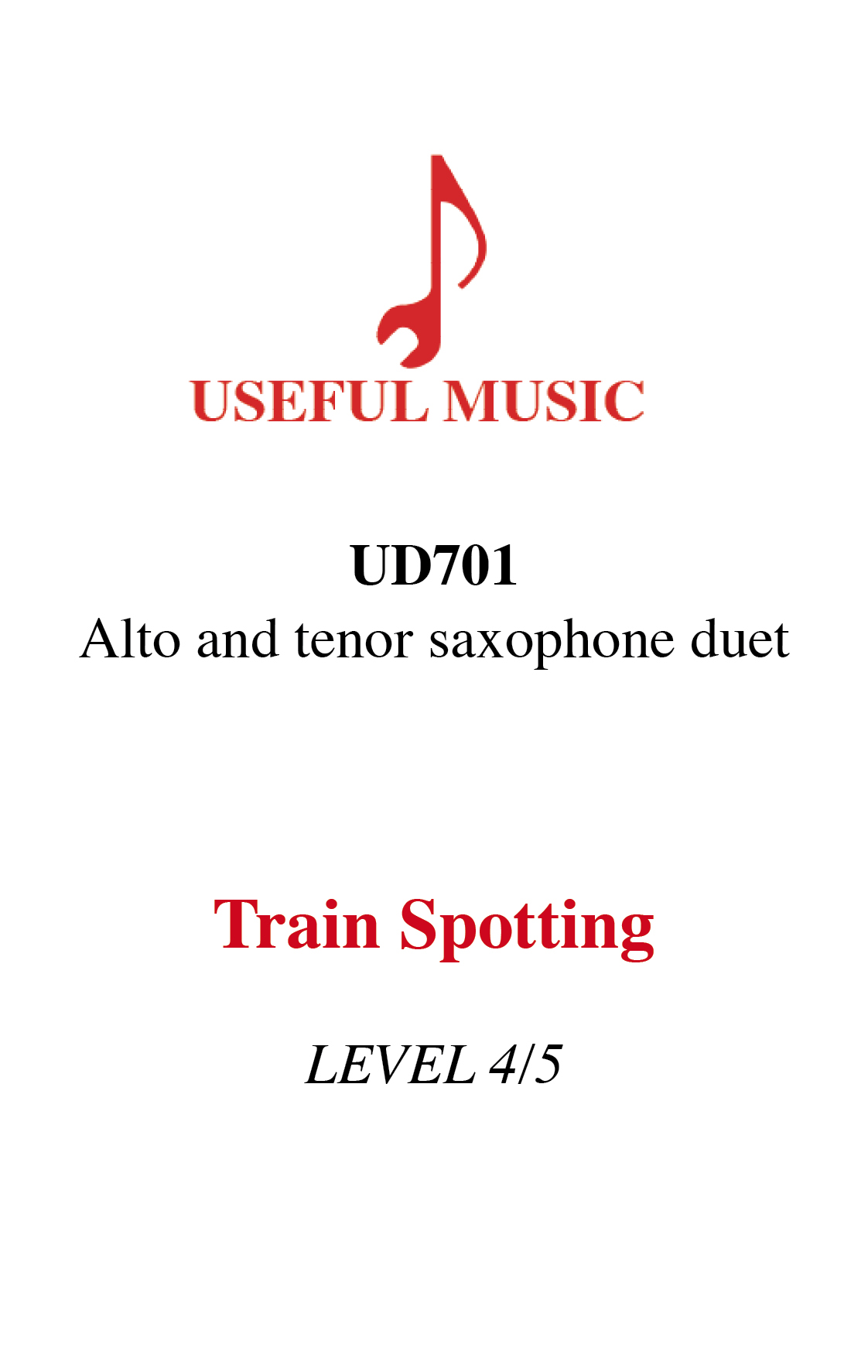 Train Spotting - saxophone duet