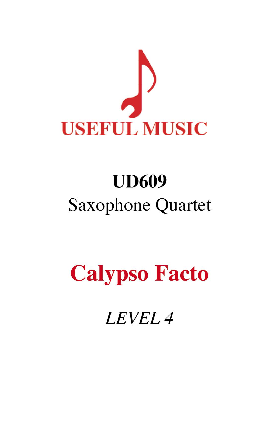 Calypso Facto - Saxophone quartet