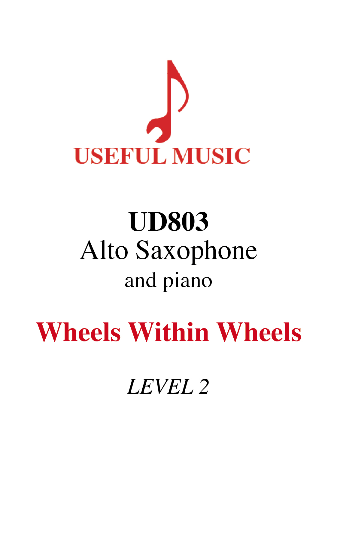 Wheels Within Wheels - alto saxophone with piano accompaniment