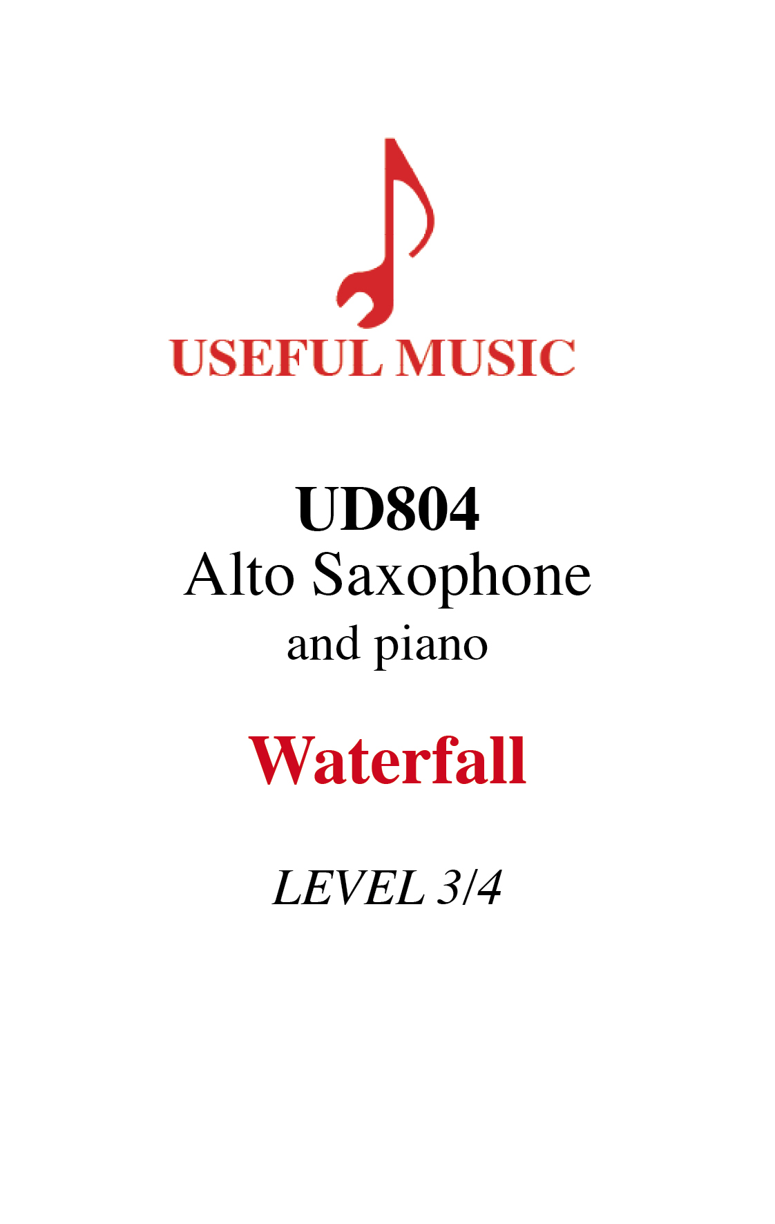 Waterfall - alto saxophone with piano accompaniment