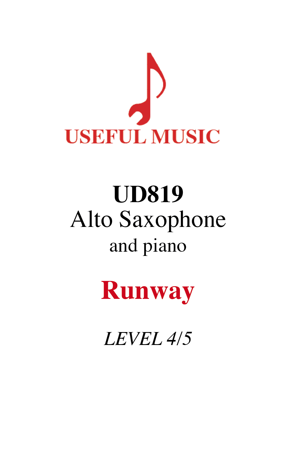Runway - alto saxophone with piano accompaniment