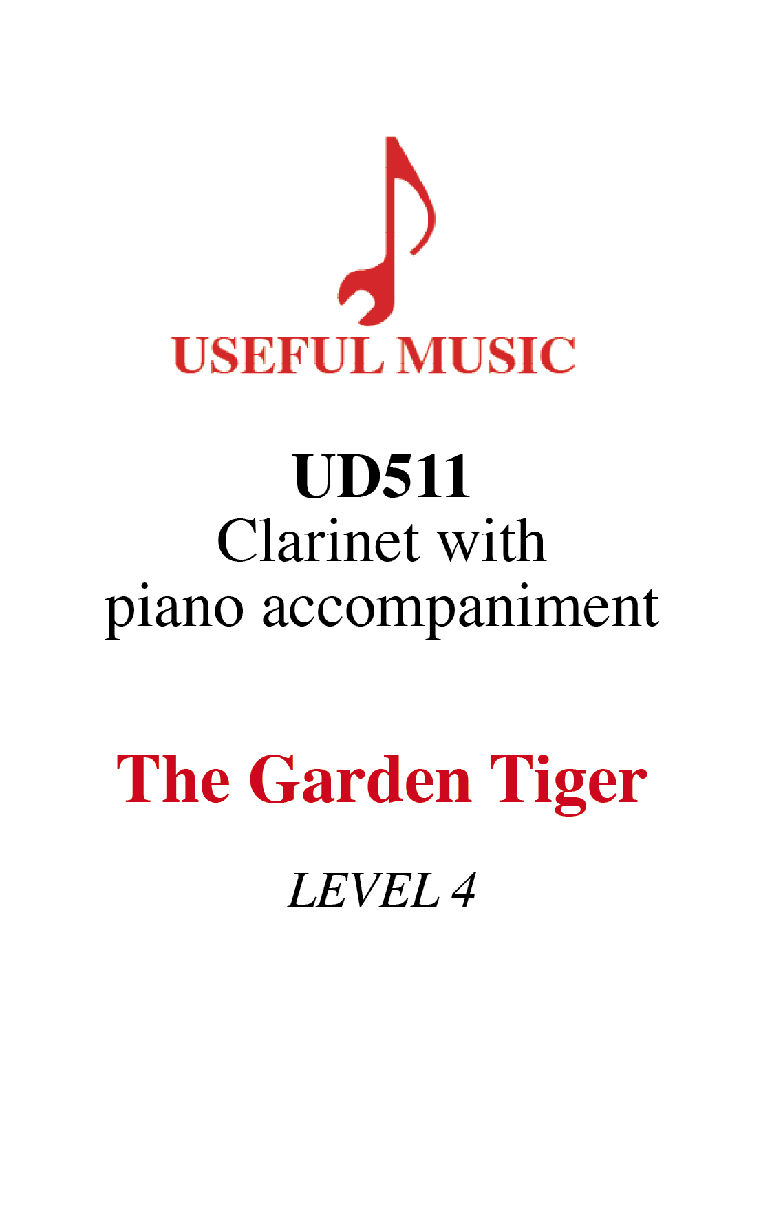 The Garden Tiger - Clarinet with piano accompaniment