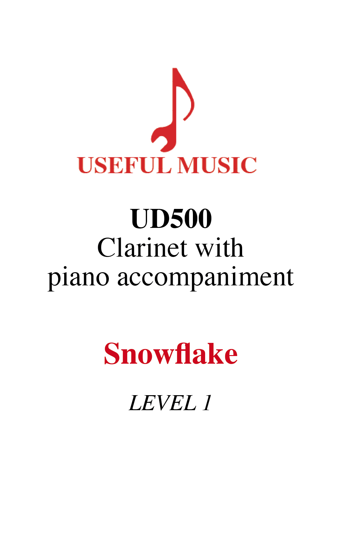 Snowflake - Clarinet with piano accompaniment