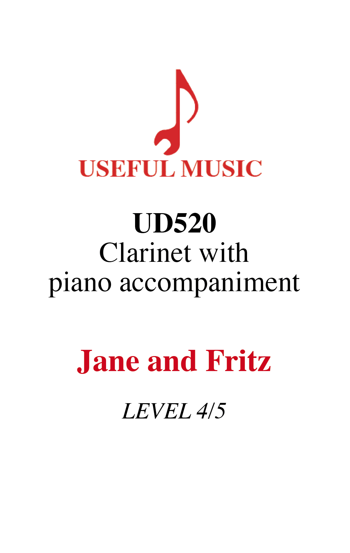 Jane and Fritz - Clarinet with piano accompaniment