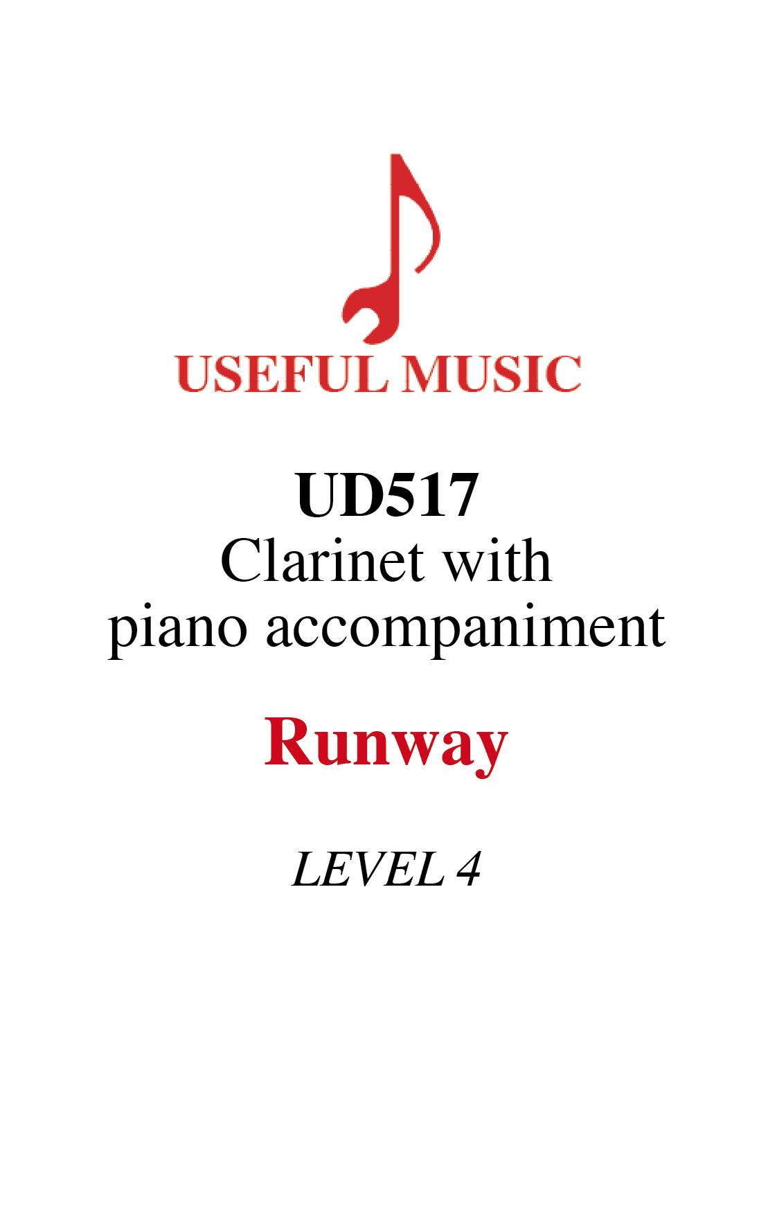 Runway - Clarinet with piano accompaniment