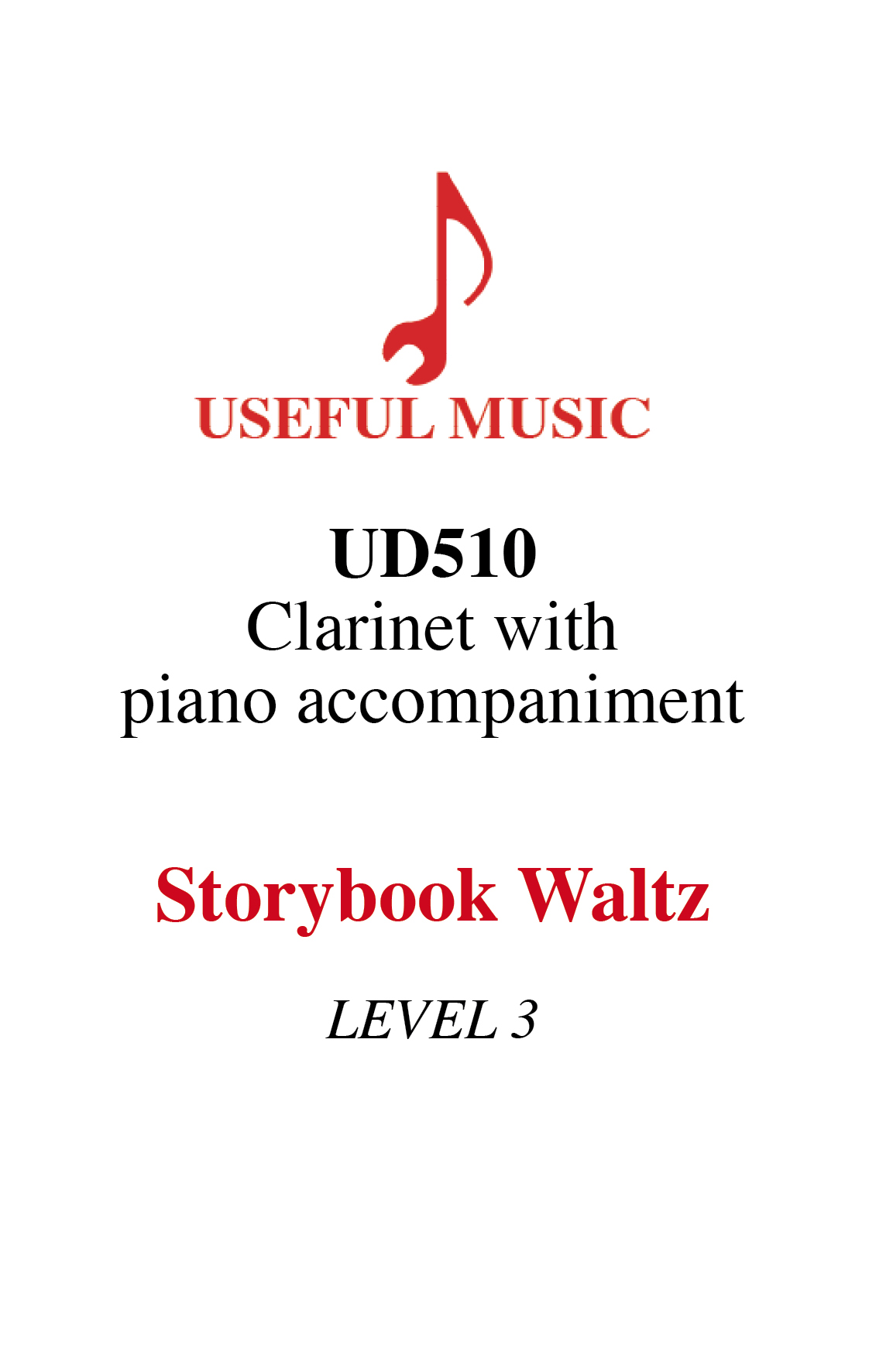 Storybook Waltz - Clarinet with piano accompaniment