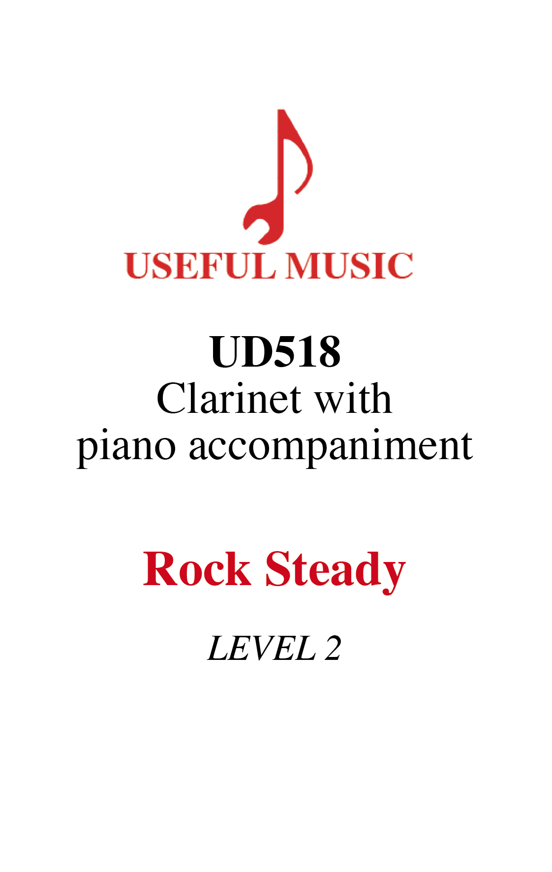 Rock Steady - Clarinet with piano accompaniment