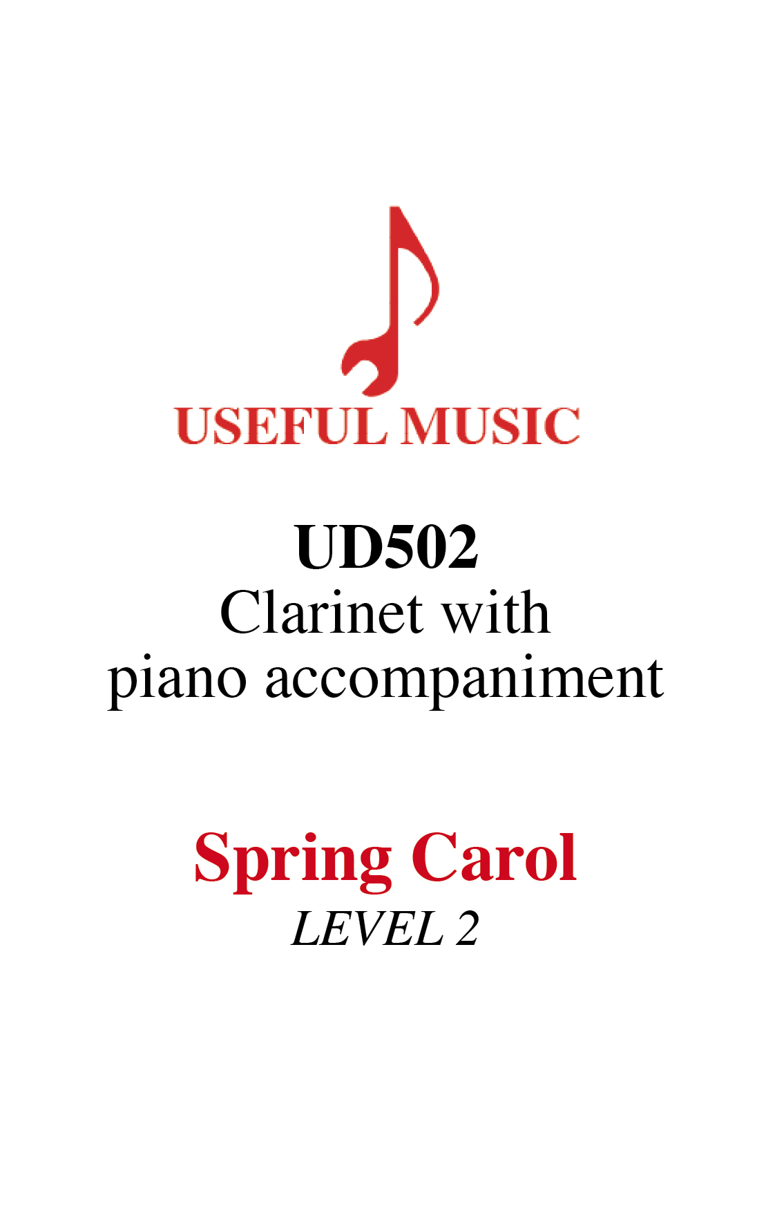 Spring Carol - Clarinet with piano accompaniment