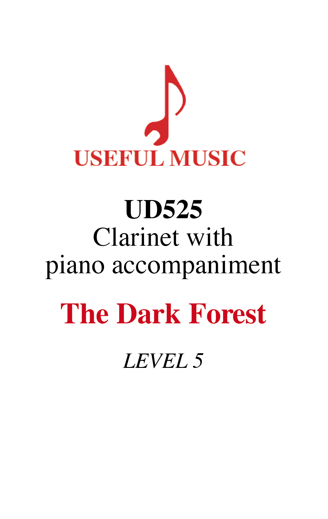 The Dark Forest - Clarinet with piano accompaniment