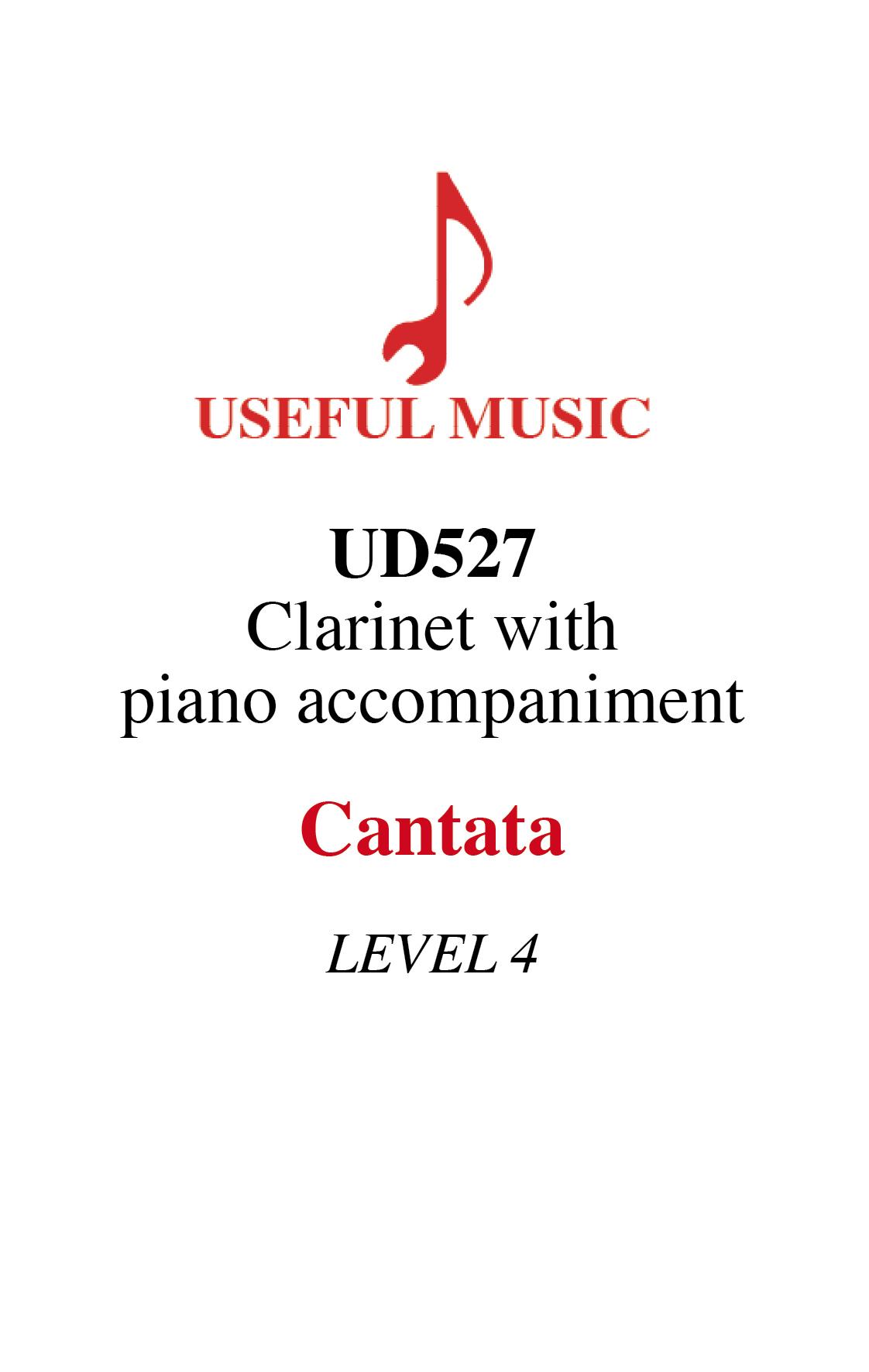 Cantata - Clarinet with piano accompaniment