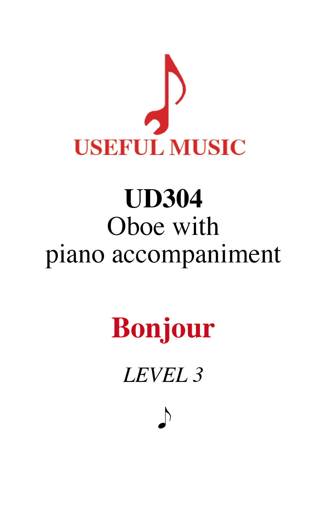Bonjour –  oboe with piano accompaniment