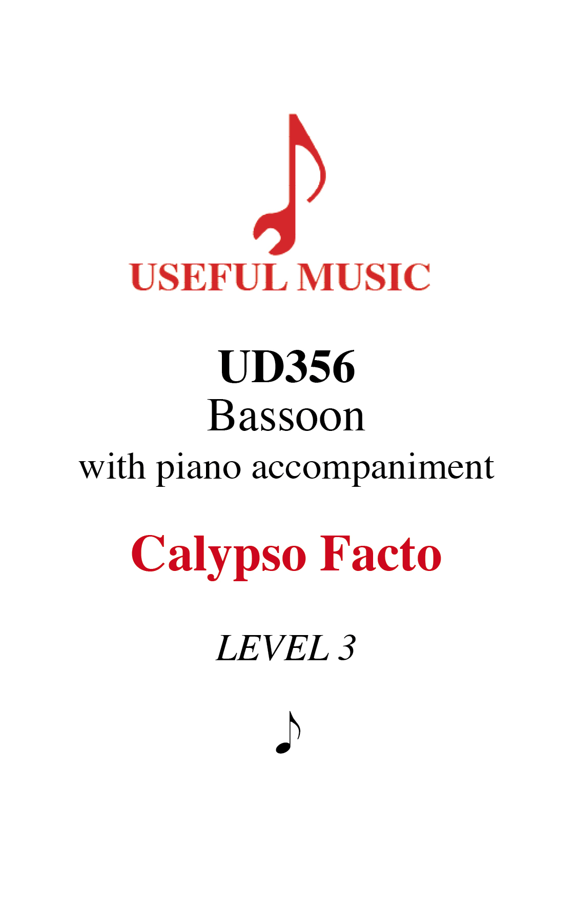 Calypso Facto - bassoon with piano accompaniment