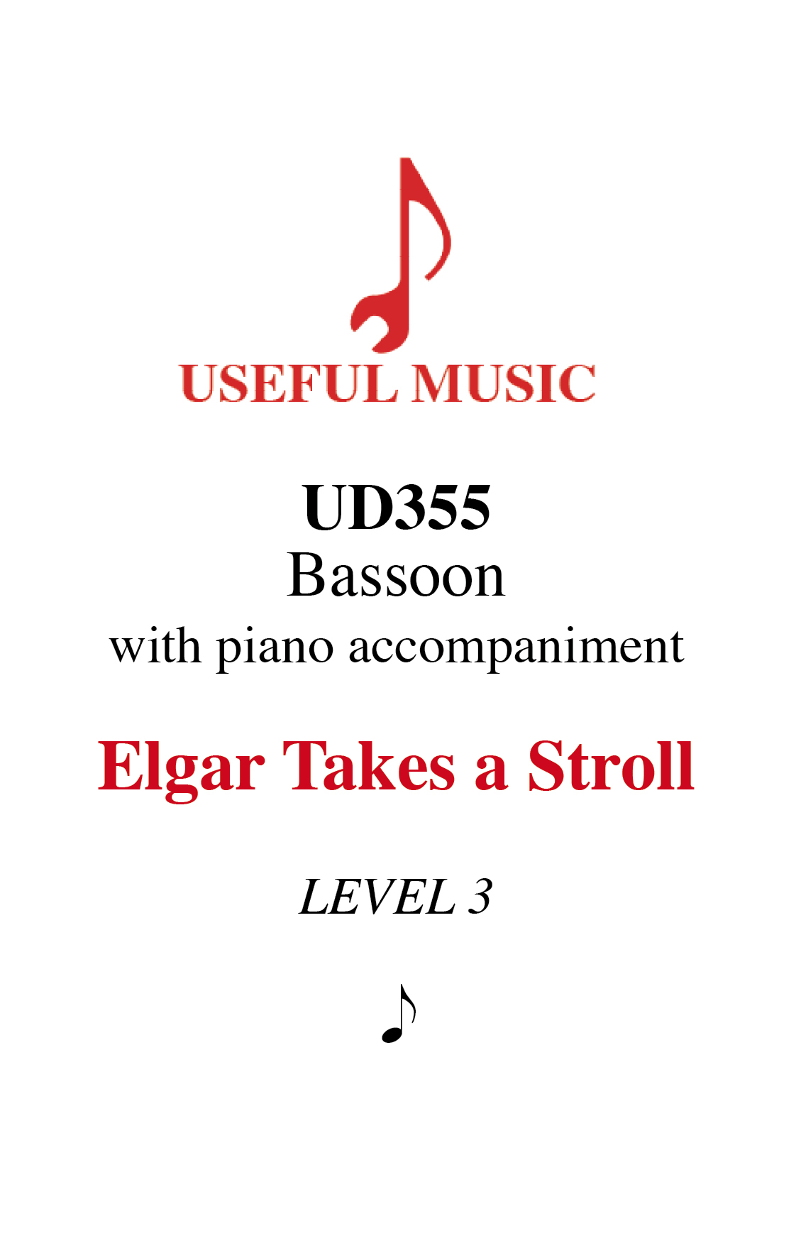 Elgar Takes a Stroll - bassoon with piano accompaniment