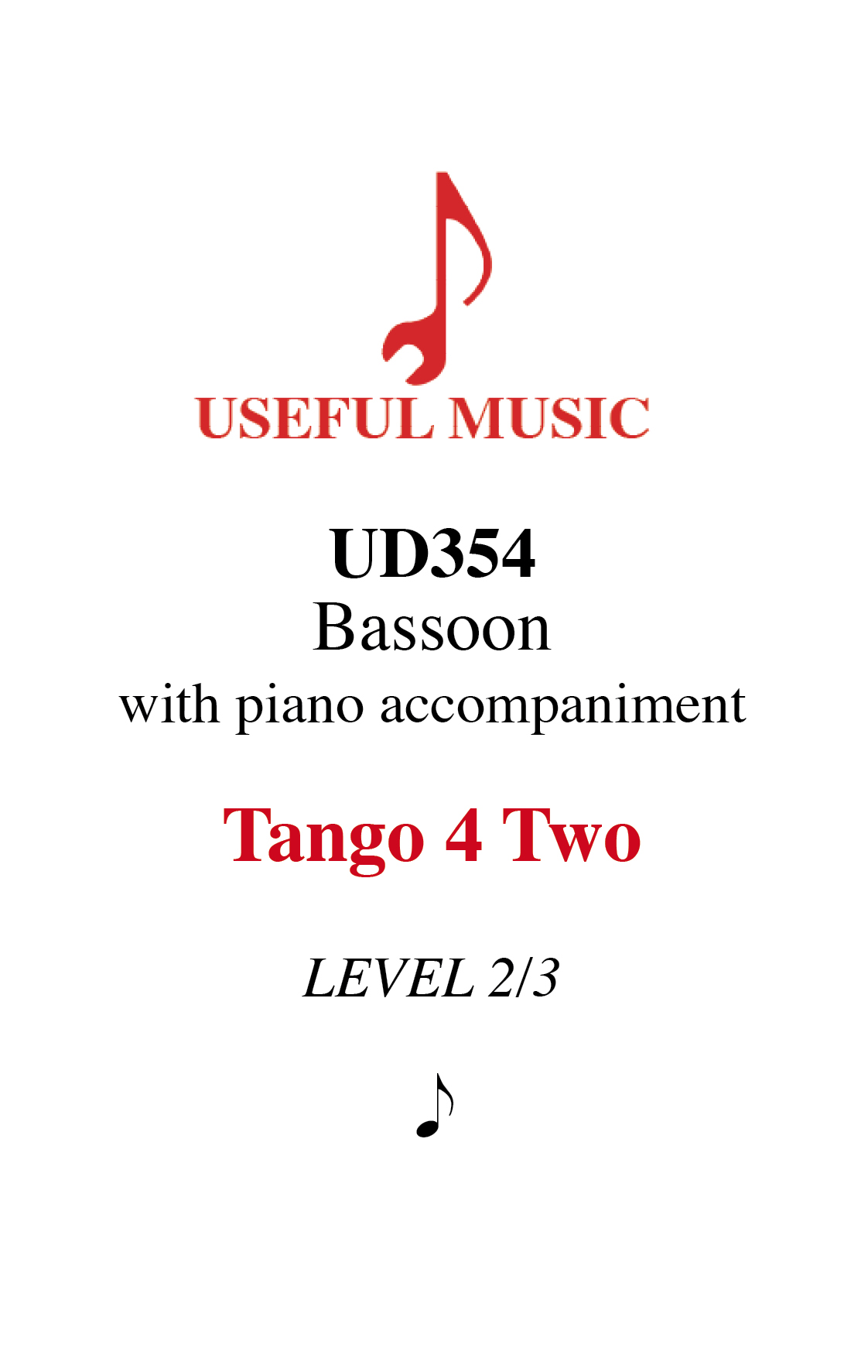 Tango 4 Two - bassoon with piano accompaniment
