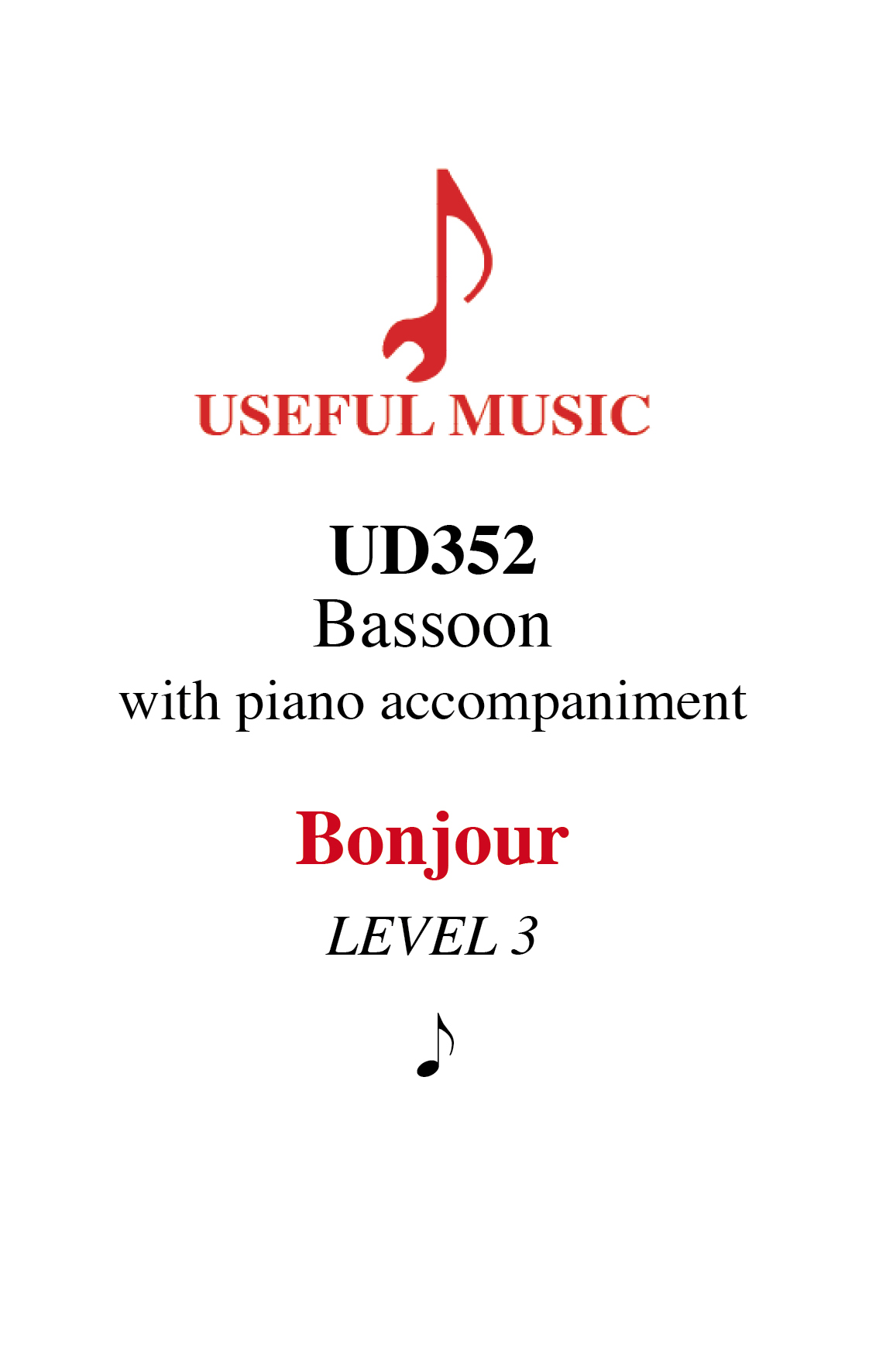 Bonjour - bassoon with piano accompaniment