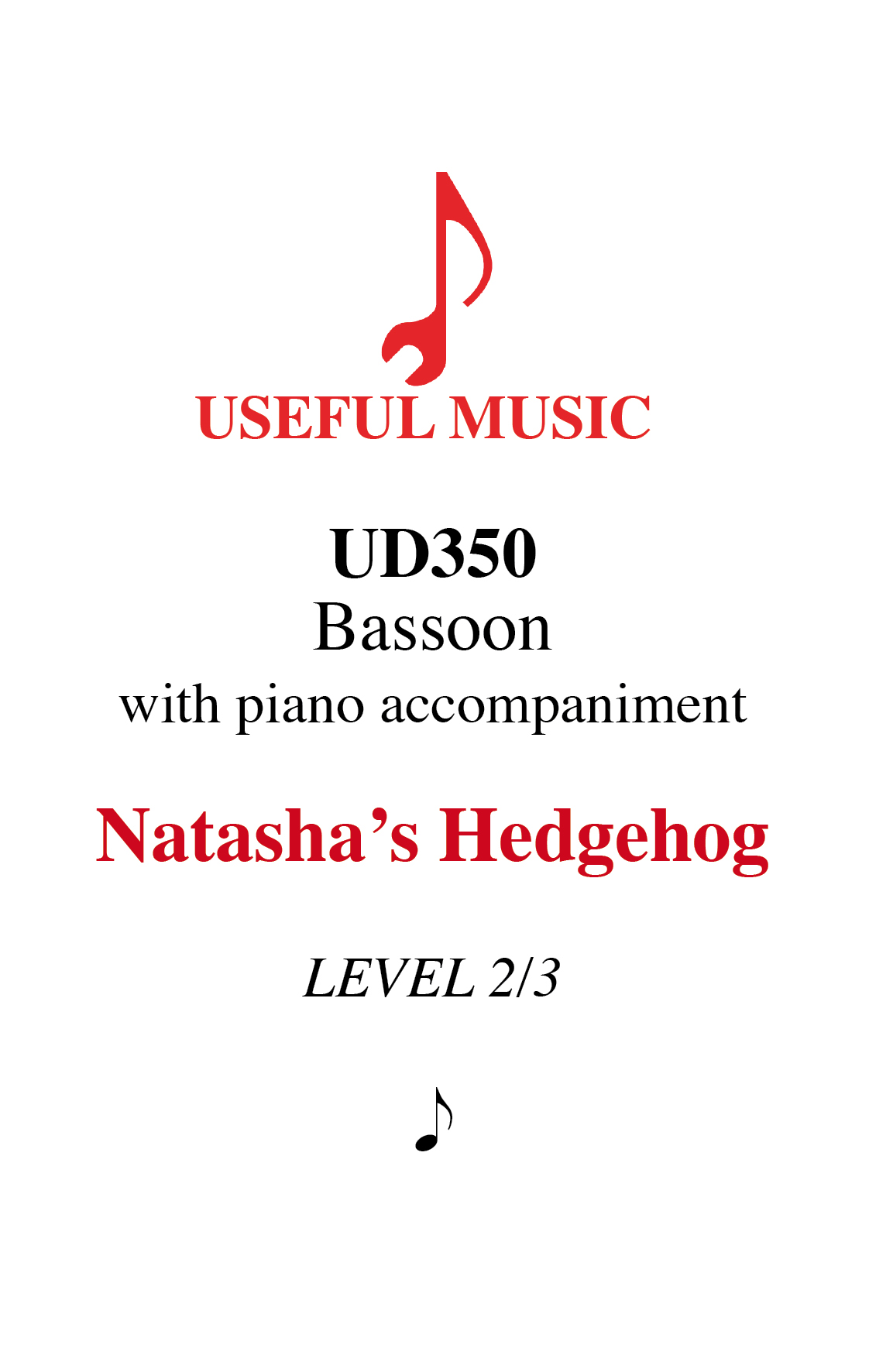 Natasha's Hedgehog - bassoon with piano accompaniment