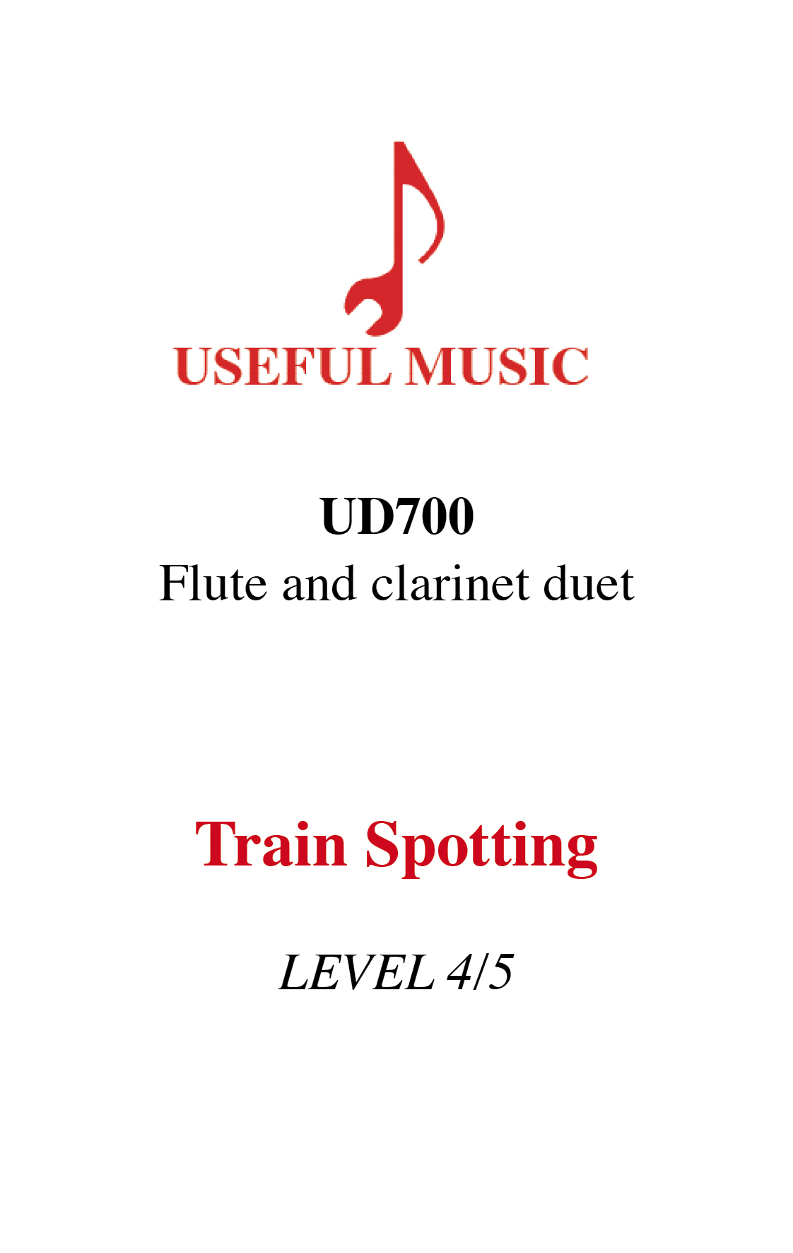 Train Spotting - flute and clarinet duet