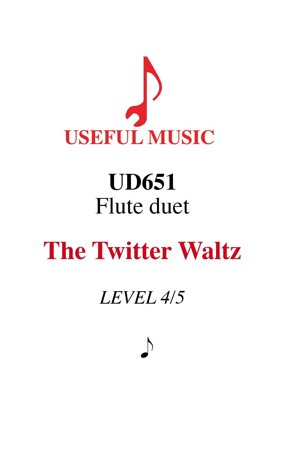 The Twitter Waltz - flute duet