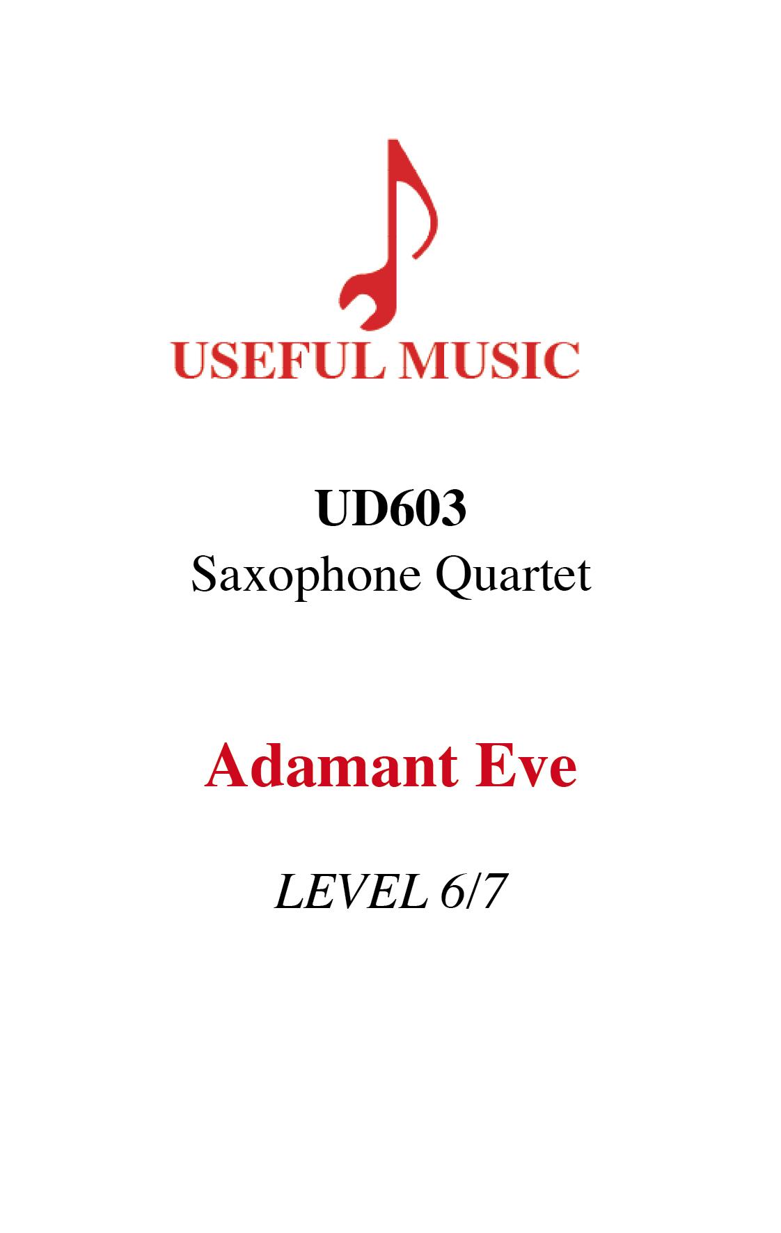 Adamant Eve - Saxophone Quartet