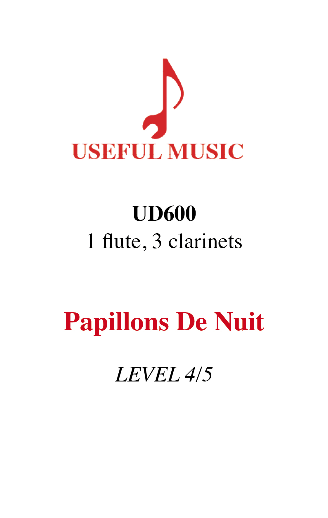 Papillons de Nuit - flute and 3 clarinets