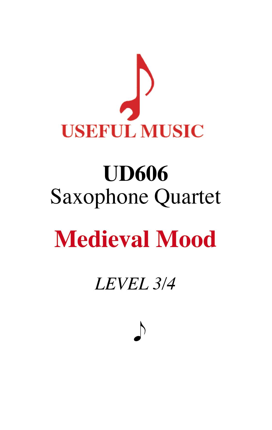 Medieval Mood - Saxophone Quartet