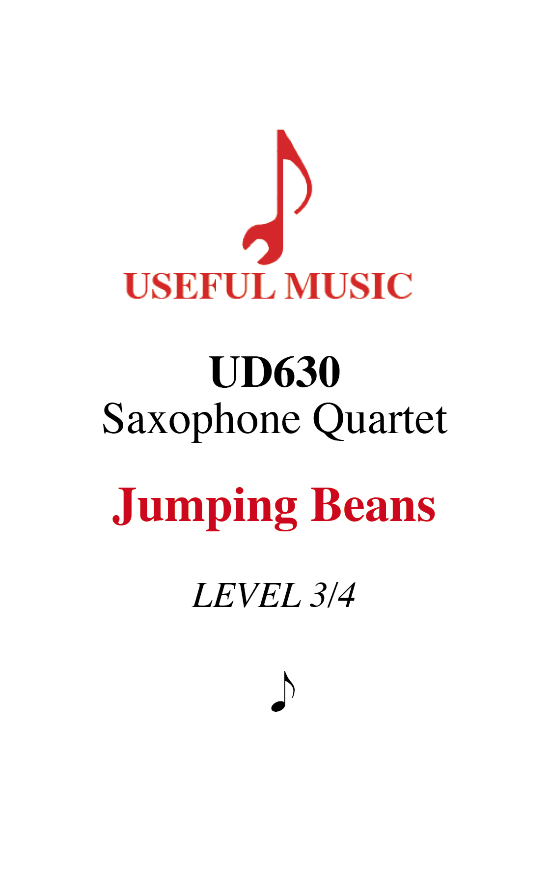 Jumping Beans - Saxophone Quartet