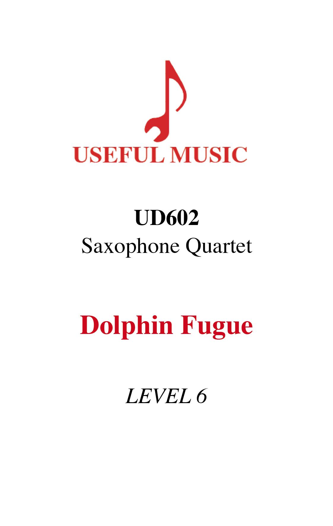 Dolphin Fugue - saxophone quartet