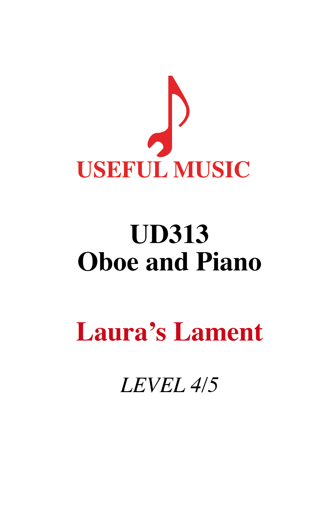 Laura's Lament – oboe with piano accompaniment