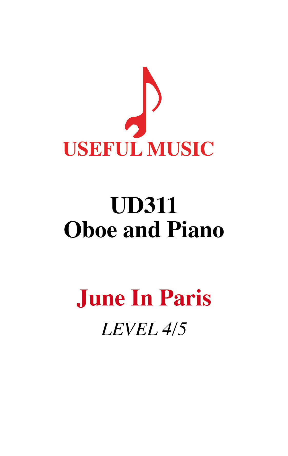 June In Paris – oboe with piano accompaniment