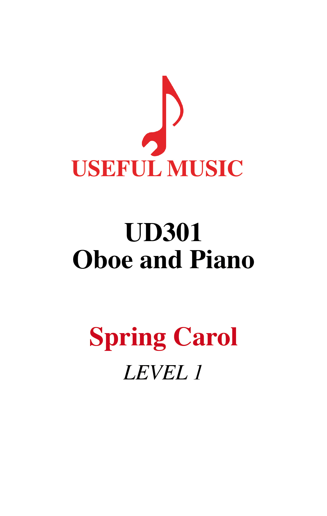 Spring Carol  –  oboe with piano accompaniment