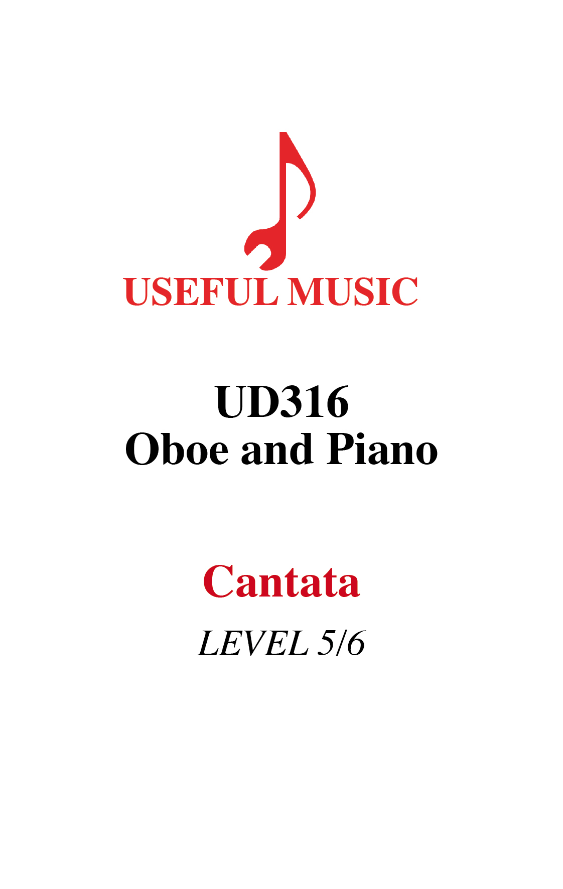 Cantata –  oboe with piano accompaniment