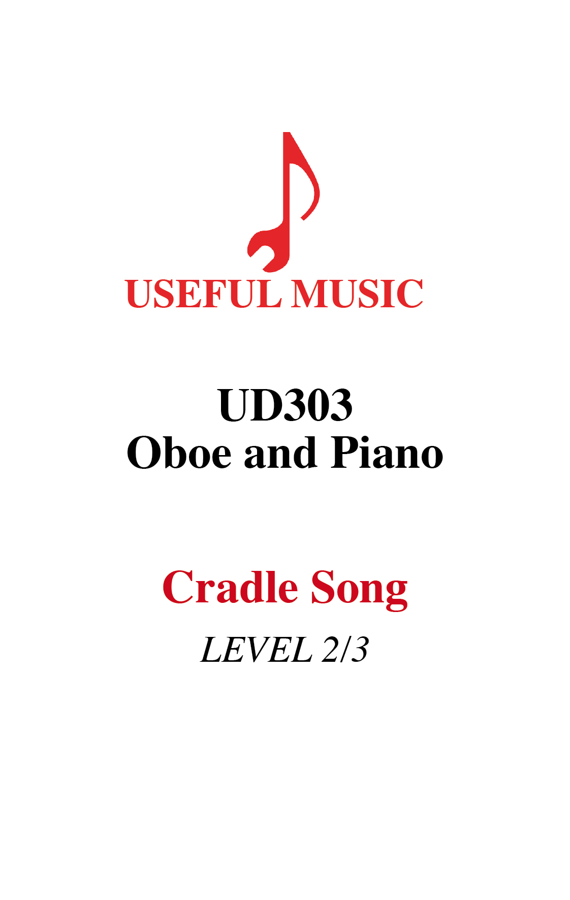 Cradle Song – oboe  with piano accompaniment
