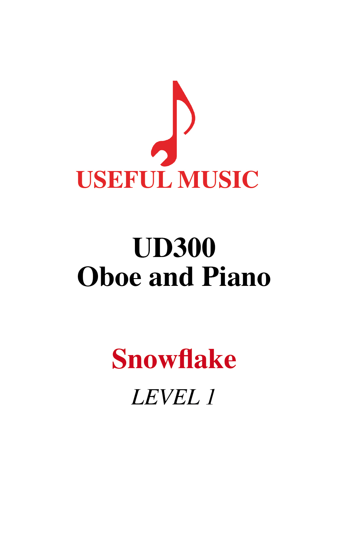 Snowflake – oboe with piano accompaniment