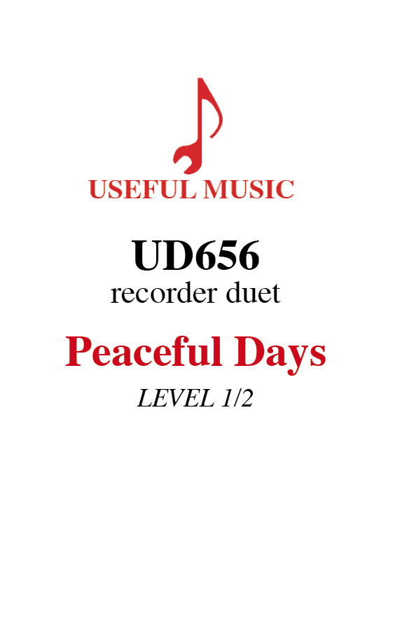 Peaceful Days - Recorder duet