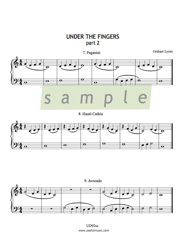 Under the Fingers part 1 experiment