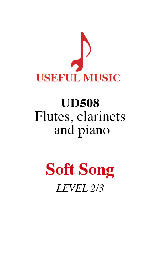 Soft Song for flutes clarinets and piano
