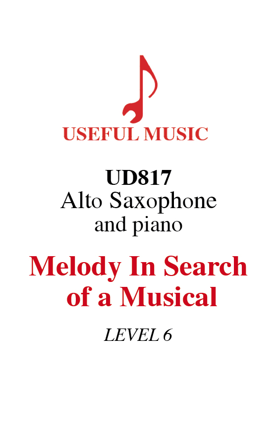 Melody In Search Of A Musical - alto saxophone with piano accompaniment