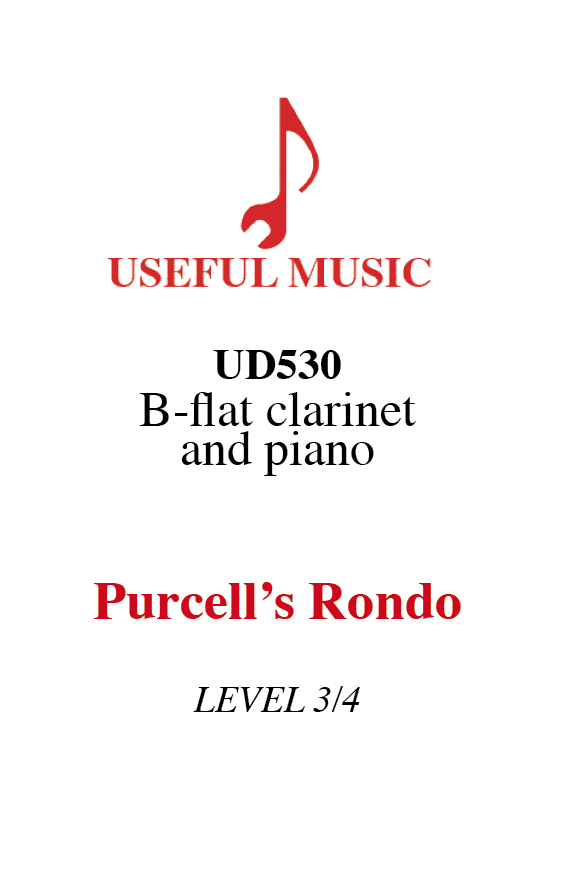 Purcell's Rondo - Clarinet with piano accompaniment