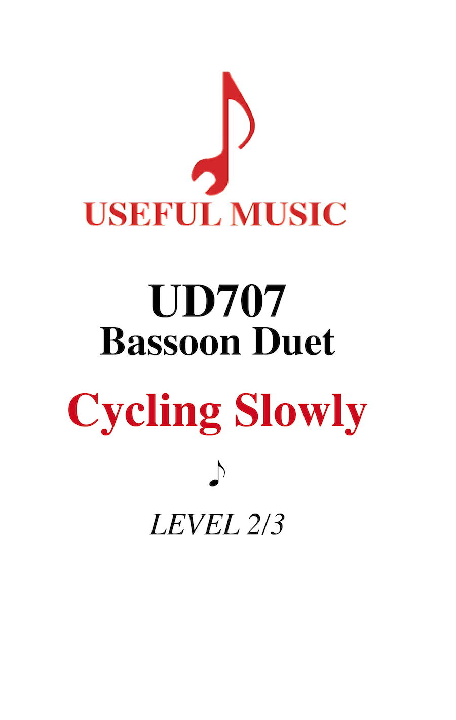 Cycling Slowly - bassoon duet