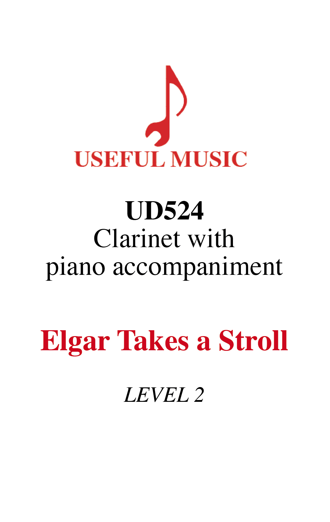 Elgar Takes A Stroll - clarinet with piano accompaniment