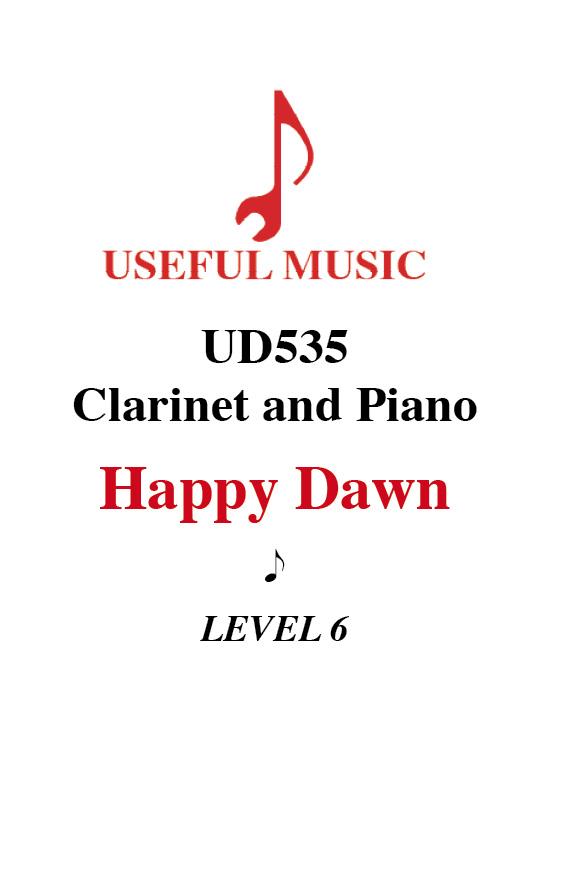 Happy Dawn - Clarinet with piano accompaniment