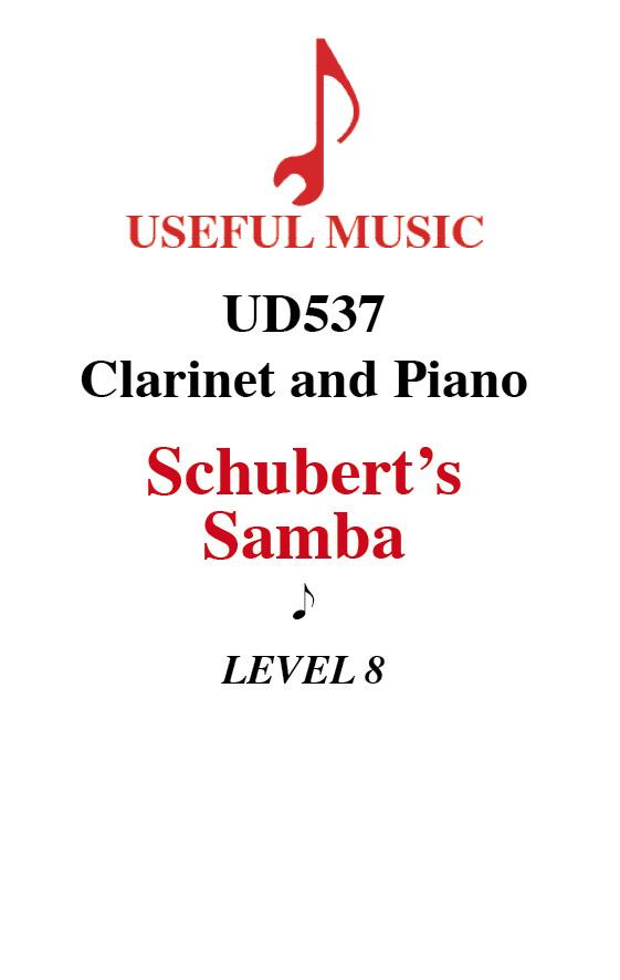 Schubert's Samba - Clarinet with piano accompaniment