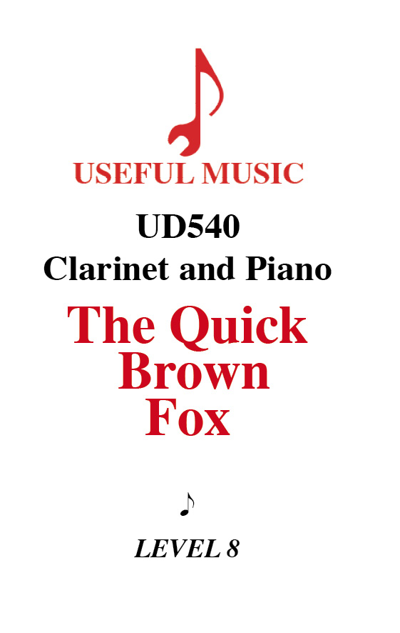 The Quick Brown Fox - Clarinet with piano accompaniment
