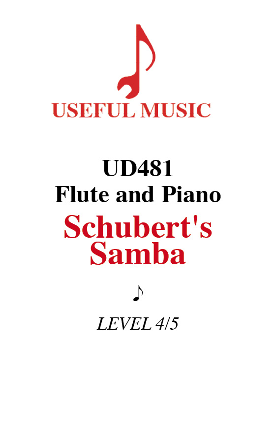 Schubert's Samba - flute with piano accompaniment